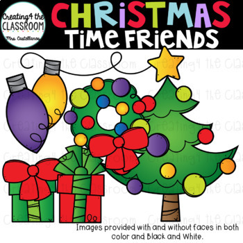 Christmas Time Friends {Christmas Clip Art}