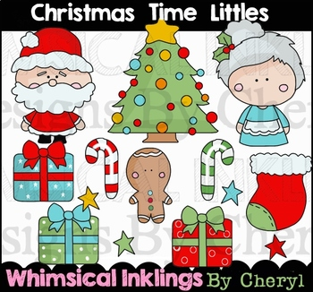 Christmas Time Littles Clipart Collection