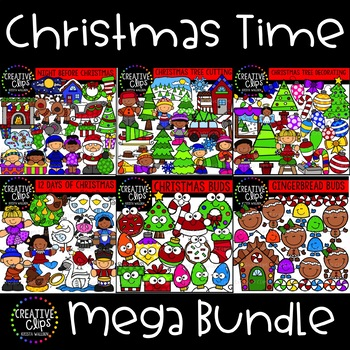 Christmas Time Mega Bundle ($32.50 Value) {Creative Clips Clipart}