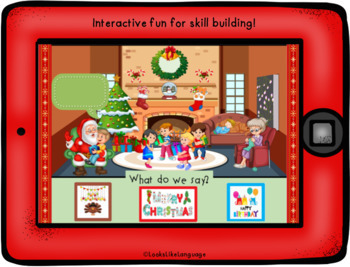 Christmas Time NO PREP No Print FREE Picture Activity Boom Cards