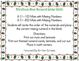 Christmas Time Numeral Order Mats