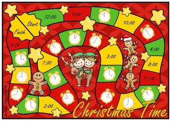 Christmas Time O'Clock Board Game
