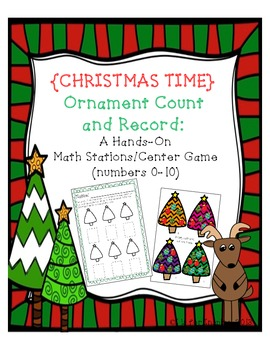 Christmas Time- Ornament Count and Record