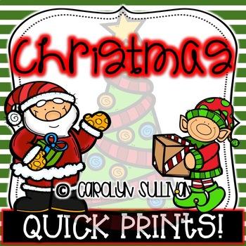 Christmas Time Quick Prints : No PREP