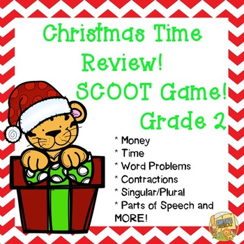 Christmas Time Review - Grade 2 SCOOT/Task Cards