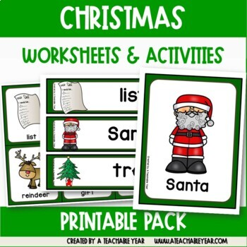 Christmas Time - Vocabulary Pack