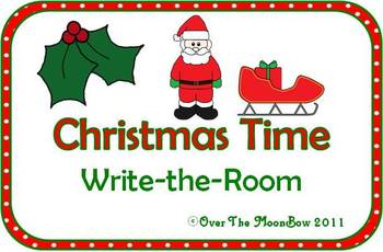 Christmas Time Write / Stamp the Room Spelling Vocabulary Game