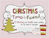 Christmas Literacy and Math Center Activities for December