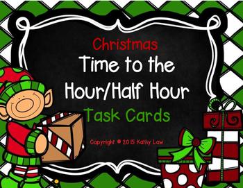 Christmas Time to the Hour/Half Hour Task Cards