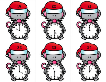 Christmas Time to the Nearest Hour and Half Hour Worksheets and Activities
