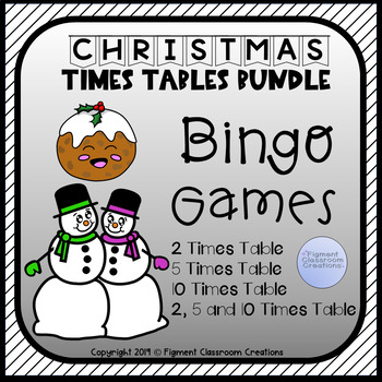 Christmas Times Table Bundle for 2, 5 and 10 times tables