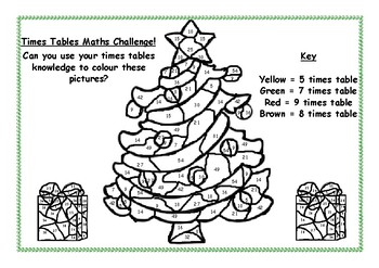 Super Christmas Times Tables Colouring Sheet Beutiful Home Inspiration Ommitmahrainfo