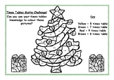 Christmas Times Tables Colouring Sheet