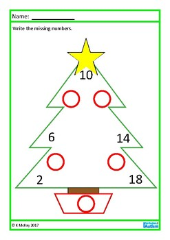 Christmas Times Tables Facts Missing Numbers,  Autism, Special Education