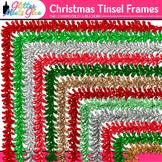 Christmas Tinsel Border Clip Art | Christmas Clipart for Teachers