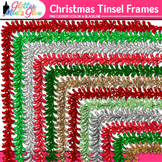 Christmas Tinsel Border Clip Art {Holiday Frames for Works
