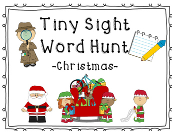 Christmas Tiny Sight Word Hunt