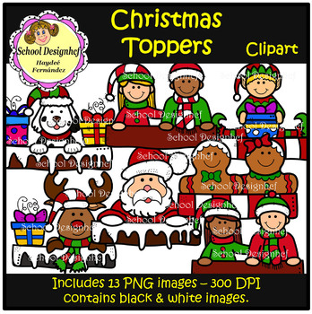 Christmas Toppers Clip Art(School Designhcf)
