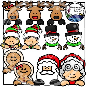 Christmas Page Toppers Clipart Bundle