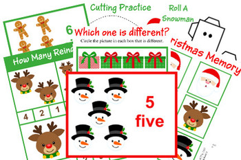 Christmas Tot School/Preschool Pack