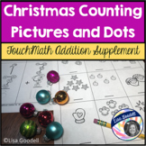 Christmas Counting Pictures and Dots Addition Worksheets