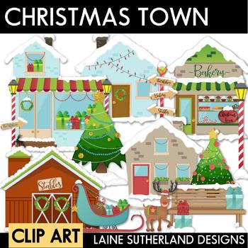 Christmas Town Clip Art Set