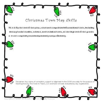 Christmas Town Map Skills
