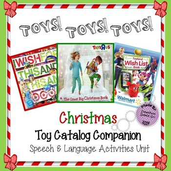 Christmas Toy Catalogs By Mail.Christmas Toy Catalog Unit For Speech Language Activities