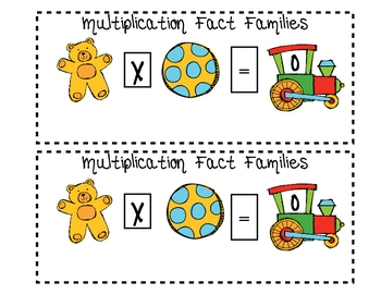 Christmas Toy Multiplication Fact Families 0-12