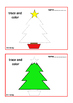 Christmas Trace Draw & Color, Fine Motor Skills Autism Special Education