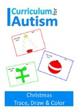 Christmas Trace Draw Color Fine Motor Skills Autism Specia