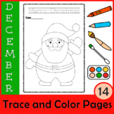 Christmas Trace and Color Pages   Fine Motor Skills   Morn