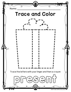 Christmas Trace and Color Printables