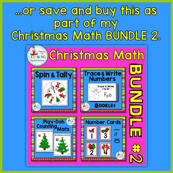 Christmas Trace and Write Booklet - A Christmas Math Center for Early Learners