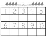 Christmas Trace and Write Numbers 1-20 Precious Preschoole