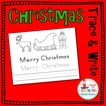Christmas Trace and Write - an Early Learner Handwriting Center