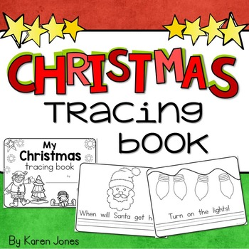 Christmas Tracing Book, Christmas Activities