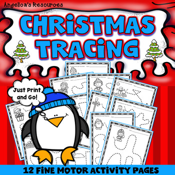 Christmas Tracing Activities - Fine Motor Activity Printables