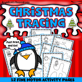 Christmas  Activities :  Tracing - Fine Motor Activity Printables