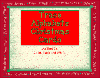 Christmas Tracing Letter Cards (set two)