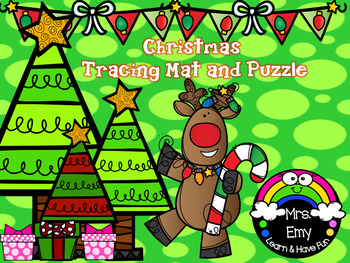 Christmas Tracing Mat and Puzzle