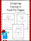 Christmas Tracing Or Push Pin Pages