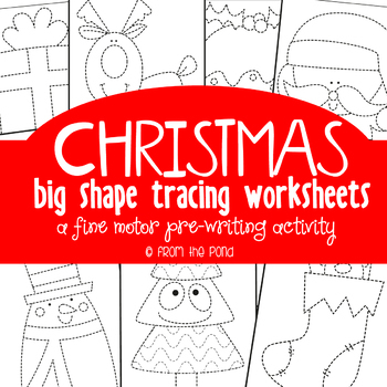 Christmas Tracing Pages {Fine Motor + Prewriting}