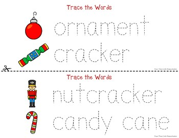 Christmas Tracing - Prewriting & Writing Center Activities