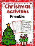 Christmas Tracing Sheets- Alpbabet, Numbers, Colors