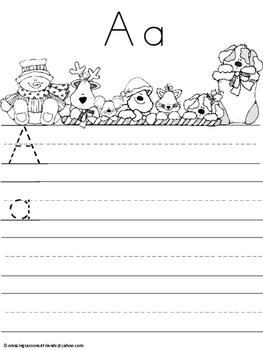 Christmas Tracing and Writing Sheets