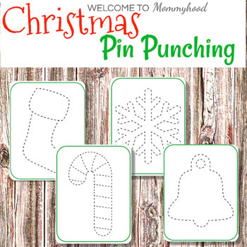 Christmas Tracing or Push Pin Cards