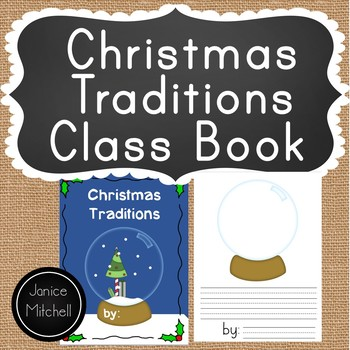 Christmas Traditions in my Family Class Book