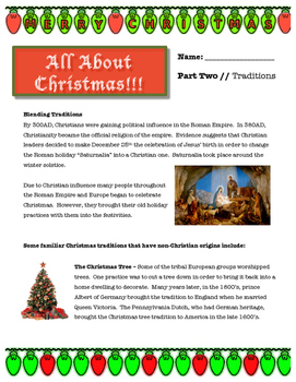 Christmas Traditions // ALL ABOUT CHRISTMAS
