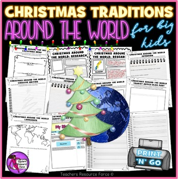 Christmas Around the World - PRINTABLES